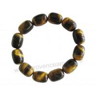 Bracelet Oeil de tigre pierres naturelles perles ovales