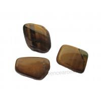 3 pierres roulées en oeil de tigre naturel