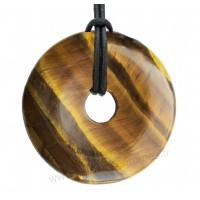 Pendentif donut Oeil de tigre pierre naturelle 35 mm