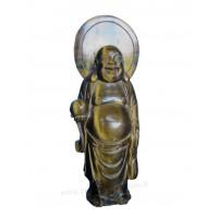 Bouddha en Oeil de tigre pierre naturelle