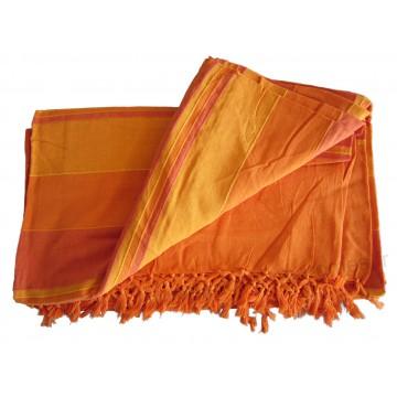 grande tenture k rala plaid couvre lit orange carotte mandarine provence ar mes tendance sud. Black Bedroom Furniture Sets. Home Design Ideas