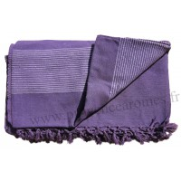 Grande Tenture Kérala plaid couvre-lit violet