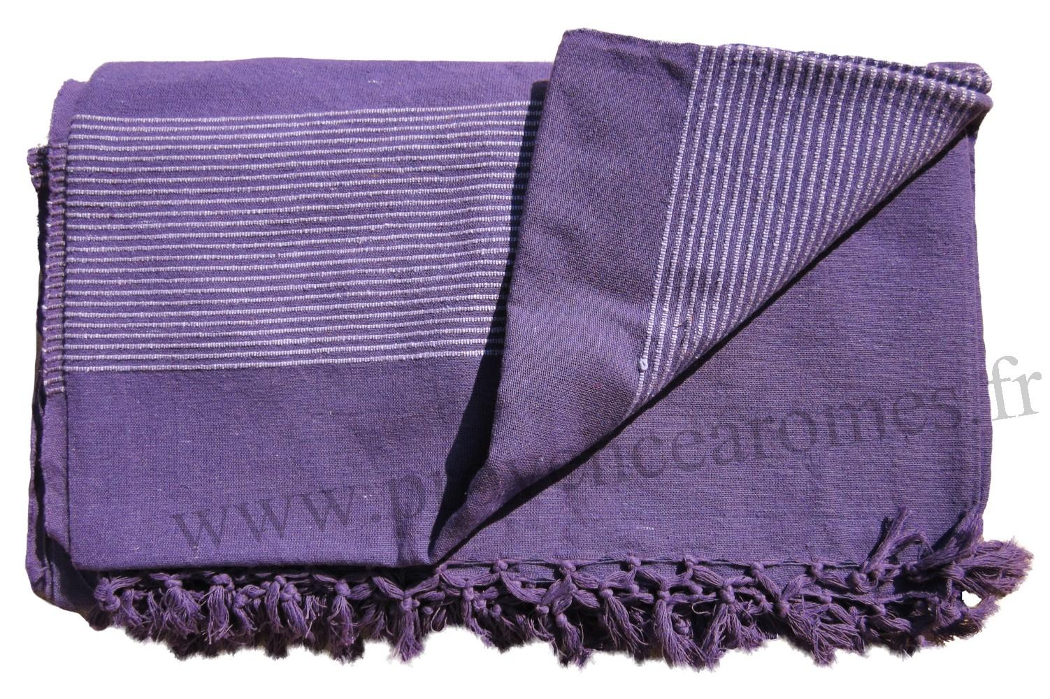 grande tenture krala plaid couvre lit violet provence armes tendance sud - Couvre Lit Violet