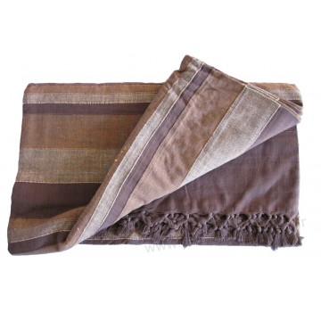 grande tenture k rala plaid couvre lit marron caf provence ar mes tendance sud. Black Bedroom Furniture Sets. Home Design Ideas
