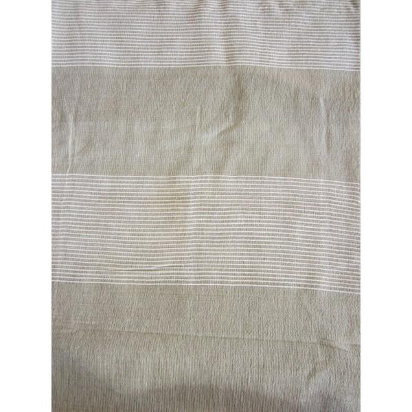 couvre lit couleur sud Grande Tenture Kérala plaid couvre lit beige/lin   Provence Arômes  couvre lit couleur sud