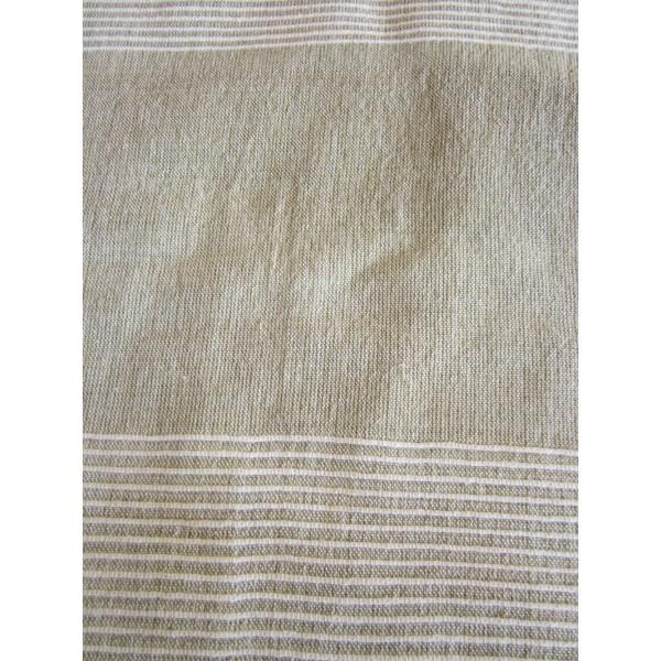 grande tenture k rala plaid couvre lit beige lin provence ar mes tendance sud. Black Bedroom Furniture Sets. Home Design Ideas