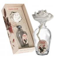 Coffret Vase en verre avec fleur de platre diffuseur de parfum d'ambiance Comptoir de Famille