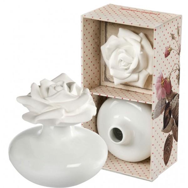 coffret vase en c ramique avec fleur de platre diffuseur de parfum d 39 ambiance comptoir de. Black Bedroom Furniture Sets. Home Design Ideas