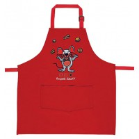 Tablier de cuisine enfant brodé Incroyable Talent Souris Rouge