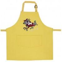 Tablier de cuisine enfant jaune brodé Une faim de tigre