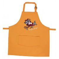 Tablier de cuisine enfant Orange brodé Une faim de tigre