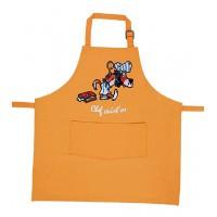 Tablier de cuisine enfant Orange brodé CHIEN CHEF CUIST'OS