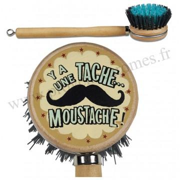 Brosse à vaisselle MOUSTACHE Natives déco rétro vintage