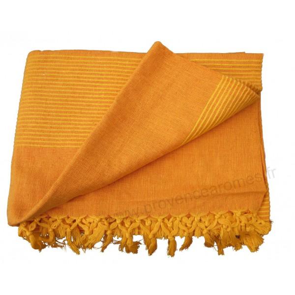 tenture k rala plaid couvre lit orange clair provence ar mes tendance sud. Black Bedroom Furniture Sets. Home Design Ideas