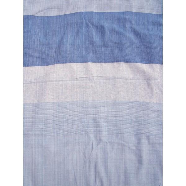tenture k rala plaid couvre lit bleu clair et fonc grandes bandes provence ar mes tendance sud. Black Bedroom Furniture Sets. Home Design Ideas