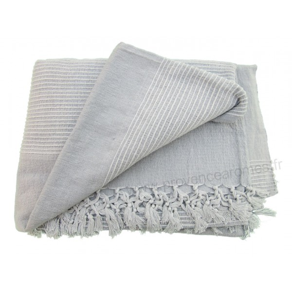 tenture k rala plaid couvre lit gris provence ar mes. Black Bedroom Furniture Sets. Home Design Ideas