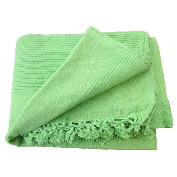 tenture k rala plaid couvre lit vert pomme uni provence ar mes tendance sud. Black Bedroom Furniture Sets. Home Design Ideas