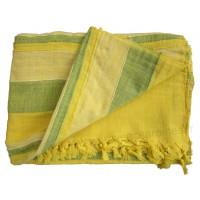 Tenture Kérala plaid couvre-lit Jaune et Vert