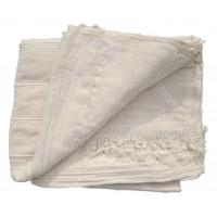 Tenture Kérala plaid couvre-lit Blanc Cassé