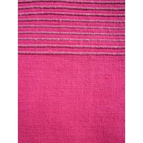 Tenture Kérala plaid couvre lit Rose Fushia   Provence Arômes
