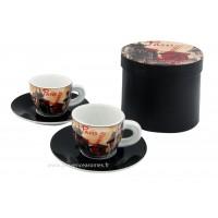 Coffret de 2 tasses à café PARIS MOULIN ROUGE déco rétro