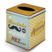 Boîte à mouchoirs MOUSTACHE Natives déco rétro vintage