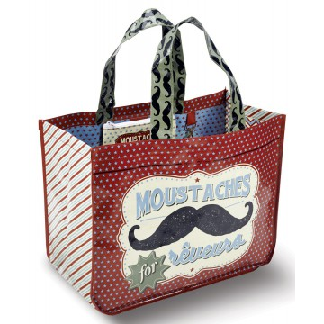 Sac Cabas MOUSTACHE Natives déco rétro vintage