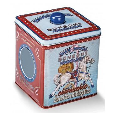 Boîte à bonbons CHEVAUCHÉE FANTASTIQUE Natives déco rétro vintage