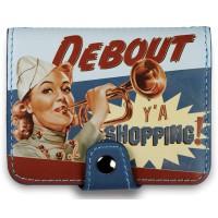 Porte-cartes bancaires DEBOUT Y A SHOPPING Natives déco rétro vintage