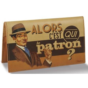 Porte-chéquier LE PATRON Natives déco rétro vintage