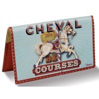 Porte-chéquier CHEVAL DE COURSES Natives déco rétro vintage