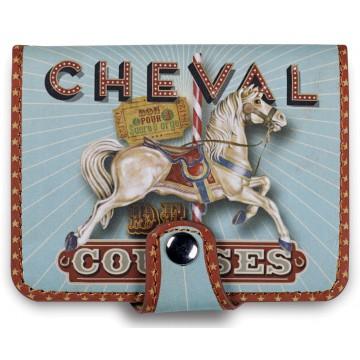 Porte-cartes bancaires CHEVAL DE COURSES Natives déco rétro vintage