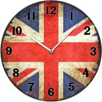 Horloge en verre UNION JACK déco rétro