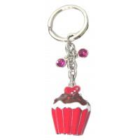 Porte-clés Cupcake porte clés métal et strass