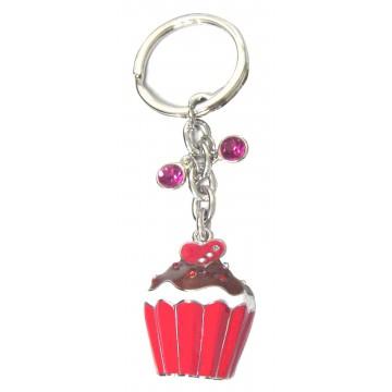Porte clés Cupcake porte-clé métal et strass