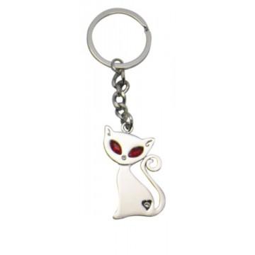 Porte clés Chat Chic porte-clé métal et strass