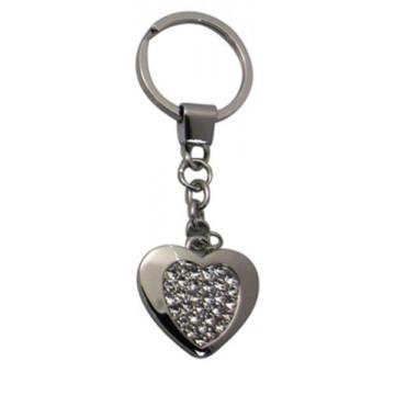 Porte clés Coeur Strass porte-clé métal et strass