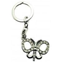 Porte-clés Papillon Strass porte clés métal et strass