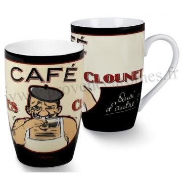 Mug GEORGES CLOUNET Natives déco rétro vintage humoristique