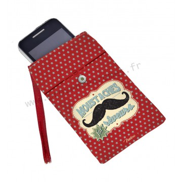 Housse téléphone portable MOUSTACHE Natives déco rétro vintage