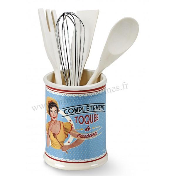 Pot ustensiles toqu e de cuisine natives d co r tro - Ustensile de cuisine vintage ...