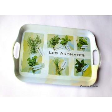 """Plateau mélaminé """"Les aromates"""""""