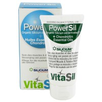 GEL POWERSIL SILICIUM BIO ACTIVÉ Huiles essentielles Chondroïtine Vitasil 50 ml