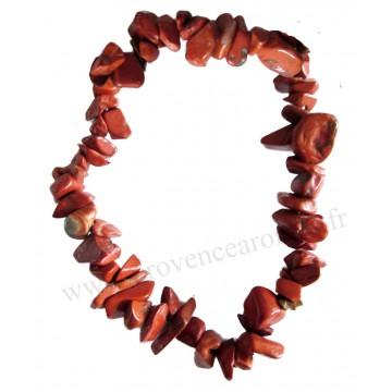 Bracelet en Jaspe Rouge pierre naturelle bracelet baroque pierres brutes