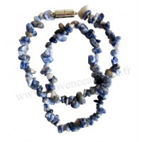 Collier en Sodalite pierre naturelle collier baroque pierres brutes