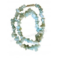 Collier en Amazonite pierre naturelle collier baroque pierres brutes