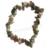 Bracelet en Unakite pierre naturelle collier baroque pierres brutes