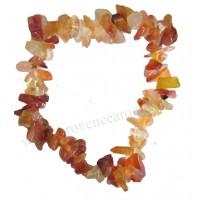 Bracelet en Cornaline pierre naturelle collier baroque pierres brutes
