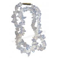 Collier en Cristal de Roche pierre naturelle collier baroque pierres brutes
