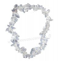 Bracelet en Cristal de Roche pierre naturelle collier baroque pierres brutes